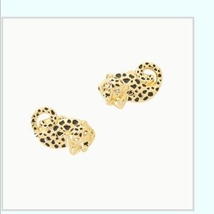 NWT Lilly Pulitzer cheetah earrings